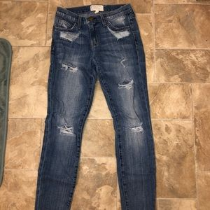 Current/Elliott Jeans - Current/Elliott Ripped Jeans